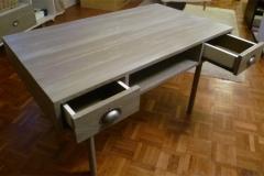 Table basse 100% récup, palettes récupérées, finition patine glacis gris.